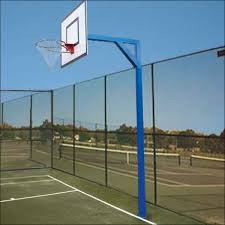 outdoor playground basketball goal posts