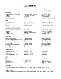 Dance Audition Resumes Dance Resume Format Hudsonhs Me