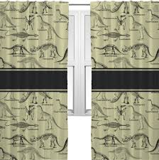 dinosaur skeletons curtains 2 panels per set personalized