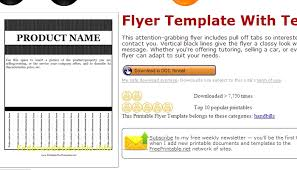 Tab Flyer Template Flyers With Tabs Templates Flyers With Tear Off