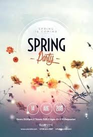 Free Spring Break Party Flyer Template Download The Best