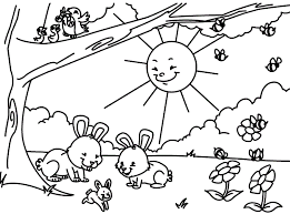 Small Picture Free Coloring Pages Spring Season Coloring Home