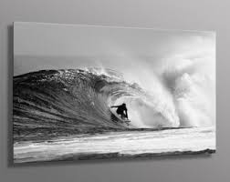 black and white surfing wall art