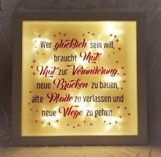 Led Leuchtbild Bild Rahmen Wandtattoo Zitat Spruch Neuanfang Neue