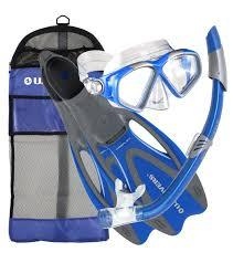 Us Divers Junior Snorkel Set Size Chart U S Divers Cozumel Mask U002f Seabreeze Snorkel U002f Proflex Fins U002f Gear Bag Set