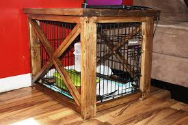 Image of: Dog Crate Furniture DIY