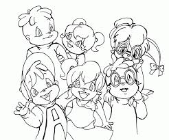 Small Picture Glamorous Alvin And The Chipmunks Coloring Pages To Print 19 mosatt