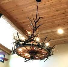 faux antler chandelier moose home design lamp uk