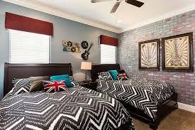 vivacious kids rooms with brick walls