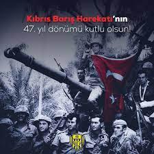 """MKE Ankaragücü's tweet - """"Kıbrıs Barış Harekatı'nın 47'inci yıl dönümünde  şehitlerimizi rahmet ve minnetle, kahraman gazilerimizi ise şükranla  anıyoruz. 🇹🇷 #KıbrısBarışHarekatı """" - Trendsmap"""