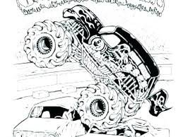 Free Printable Monster Truck Coloring Pages Monster Jam Truck