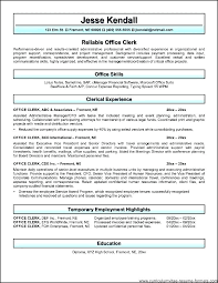 Accounting Clerk Resume Sample Samples Courtesy Office Objective For