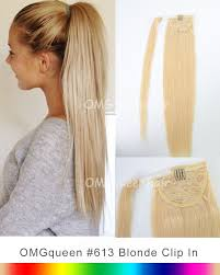 high quality 613 white blonde ponytail hair extensions diy dye hp01 queenhair com