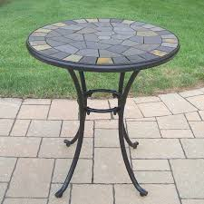 oakland living stone art 26 in w x 26 in l round iron bistro