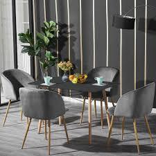 2er Silky Samt Akzent Sessel Für Kleine Küche Esszimmer Büro