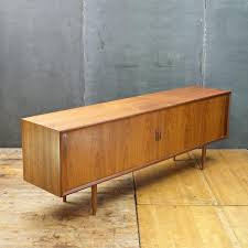 1960s giant danish walnut tambour door credenza mid century modern sideboard buffet by cabinmoderndc