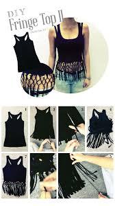 Cool Cut Up Shirt Designs Diy Fringe Top Diys And Make Your Owns Diy Clothes Diy