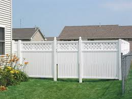 white privacy fence ideas. White Privacy Fence Ideas And Attractive Vinyl Fences As Economical Selection For Fencing N