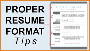 Proper Resume Format Resume Templates