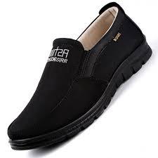 men s business leather shoes vintage canvas casual leather shoes men large size shoes black 40 canvas