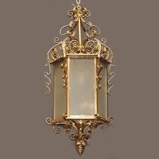 antique english solid brass lantern gas light era circa 1890 new orleans gas lights70