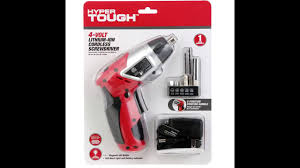 Hyper Tough 2 In 1 Magnetic Light Hyper Tough Cordless Screwdriver Led Worklight Magnetic Bit
