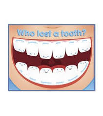 Busy Kids Learning Large Classroom Chart I Lost A Tooth