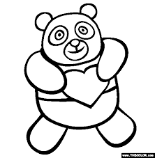 Valentine S Day Panda Bear Coloring Page