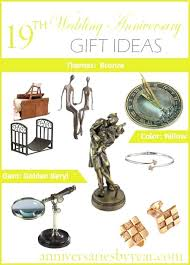 19 wedding anniversary gift year best gifts for
