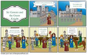 sir gawain and the green knight storyboard by mellymendez