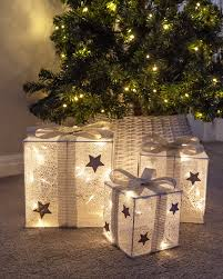 Light Up Christmas Bows Details About Set Of 3 Led Light Up Glitter Silver White Christmas Parcels Xmas Presents Bow G