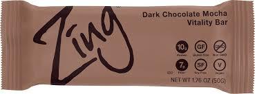 zing vital energy nutrition bar dark chocolate mocha 12 bars high