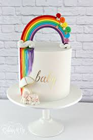 noahs ark baby shower ideas for baby shower party. A Vibrant And Rainbow Themed Baby Shower Cake Features Fondant Topper Watercolour Noahs Ark Ideas For Party E