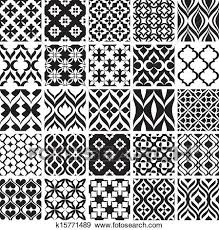Abstract Art Black And White Patterns Set Of Black And White Patterns Clip Art K15771489