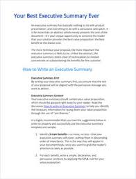 executive summery executive summary template pinteres