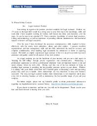 Cover Letter For Legal Secretary Position Free Paralegal Cover