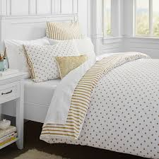 white and gold polka dot sheets. Wonderful Polka On White And Gold Polka Dot Sheets PBteen