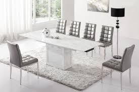 White Marble Dining Table Dining Room Furniture White Marble Dining Set 4 Modern Dining Room Chairs Leather