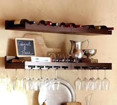 entertaining shelves by pottery barn at floating wall shelf