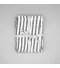 recycled cotton tea towels set of 2 dark grey