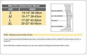 29 Extraordinary Nike Pro Combat Knee Sleeve Size Chart