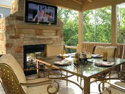 Covered Porch With Fireplace Chimney Ideasexterior Stone Fireplace