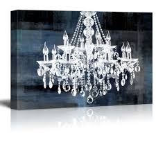 crystal chandelier vintage large canvas framed wall art print picture home decor