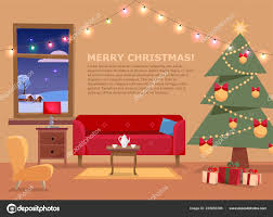 Christmas Banner Mit Flachen Vektor Illustration Von
