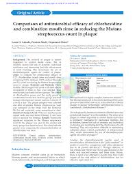 Pdf Comparison Of Antimicrobial Efficacy Of Chlorhexidine