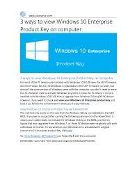 3 Ways To View Windows 10 Enterprise Product Key On Computer