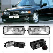 E36 Fog Light Lens 1 Pair Front Bumper Halogen Driving Fog Lights For Bmw E36 3 Series 92 98