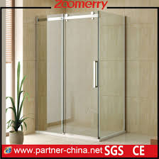 rectangle frameless 10mm thickness glass sliding shower cubicles wk1131b
