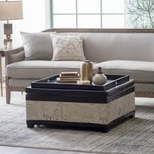 ottoman coffee table. Belham Living Corbett Leather And Linen Coffee Table Storage Ottoman N