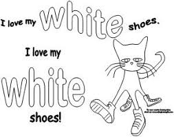 Small Picture Pete the Cat colored shoes activity available at www